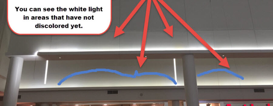 Yellowing LED lights | LED light discoloration problem