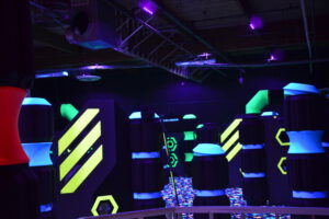Laser Tag Arena with Sunlite Black Lights