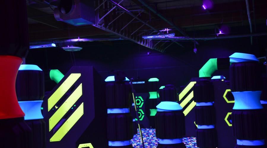 Laser Tag Arena with Sunlite Black Lights